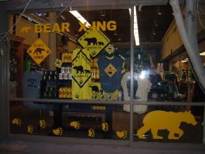 Yosemite Lodge Gift Shop - Bear Xing Hand Cut Window Adhesions