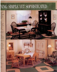 Macy's (Horne's) Furniture Ad ~Country Dining Rooms