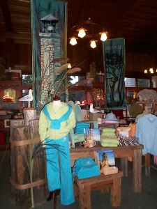 Asilomar by Pebble Beach Hand Painted Banners,Hand Carved Birds, Hand Made Pilings & Tables