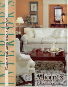 Horne's Ad Front Cover White Room Design