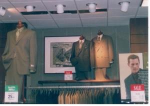 Macy's (Horne's) Men's Suits Display